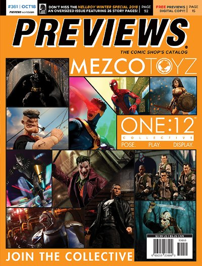Offered In Novembers Marvel Previews Back Cover Mezco Toyzs One12 Collective Figures