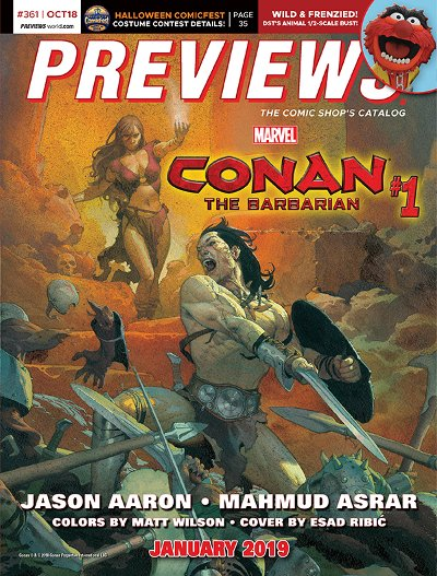 Front Cover Marvel Comics Conan 1 Offered In Novembers Previews